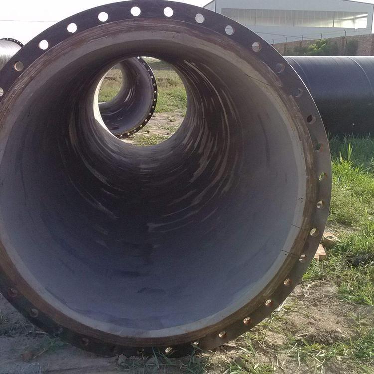 矿用法兰连接涂塑螺旋焊管